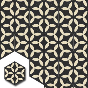 carreaux de ciment HEX003