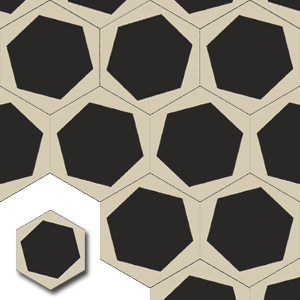 carreaux de ciment HEX005