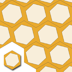 encaustic carreaux de ciment HEX005