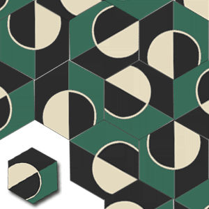 cement tile HEX015