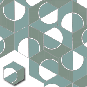 handmade cement tiles HEX015