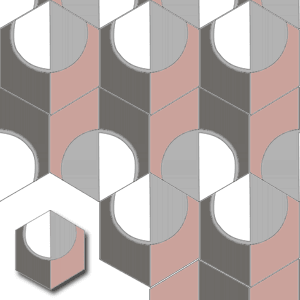 cement mosaic tile HEX015